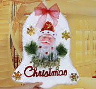 "48*30CM/19*12"" Christmas Foam Jingle Bell Doors Hangings Xmas Tree Hotel Home Decoration Church Window Santa"