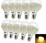 Bombillas LED de Globo Decorativa YouOKLight B E26/E27 5W 9 SMD 5630 450 LM Blanco Cálido AC 100-240 V 10 piezas