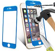 Fibra de carbono 9h protector de pantalla de borde redondo 3d película endurecida polaco embotado de vidrio templado para iPhone6 + / 6s