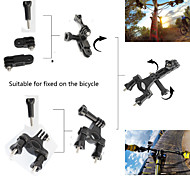 Bicycle Handlebar Seatpost Clamp Three-way Pivot Arm for Gopro Hero 12345 Sj4000 Sj5000 Sj6000 Sj7000 Xiaomi Yi