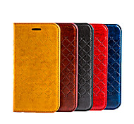 2015 New Grid Pattern Flip PU Leather Cover for iPhone 5/5S(Assorted Colors)