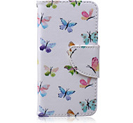 Butterfly flying Painted PU Phone Case for iphone5C