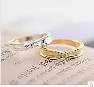 Korea Plating Metal Irregular Simple Bow Ring