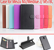Flip Leather Magnetic Protective Case For MeiZu M2/Meiblue 2/M578C(Assorted Colors)