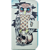 Owl and Skull Pattern Card Stand Leather Case with Card Slot for iPhone 6 Plus / 6S Plus