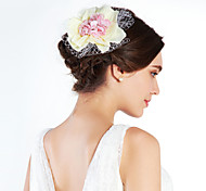 Romantic Net With Flower Women's Fascinators