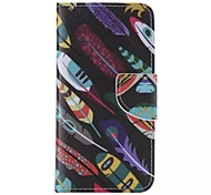 Leaf Graffiti Pattern Cell Phone Leather For iPhone 6/6S