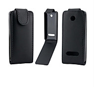 PU Leather Up Down Flip Mobile Skin Case Cover For Nokia Lumia 301