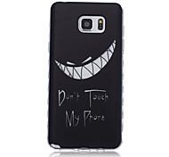 nuevas olas patrón de dientes resbalan caso del tpu softphone mango para Samsung Galaxy Note 5/4/3