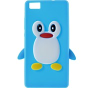 3D Cute Penguin Style Soft Silicone Case Cover For Huawei Ascend P8 Lite