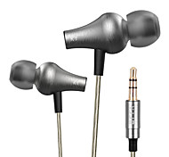 Original VJJB K1 Wired 3.5MM Hi-fi stereo metal headphones Professional Concert Noise isolate Bass for Iphone 6 / 6Plus
