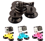 PANNVOV Plastic Low 3-Suction Cup Mount Holder for GoPro Hero 4 / 3+/XIAOMI YI/SJ4000/SJ5000/SJ6000
