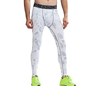 Vansydical Men's Quick Dry Fitness Bottoms White / Green / Gray