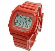 Unisex Digital LCD Rubber Sport Watch