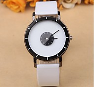 Creative double rotating seconds disc Leisure Leather Watch