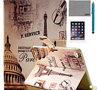 LEXY® Paris Street Pattern PU Leather Flip Stand Case with Screen Protector and Stylus for iPad Mini 4