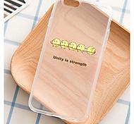 ifashion® la unión hace la fuerza patrón TPU caso suave para el iphone 6 / 6s