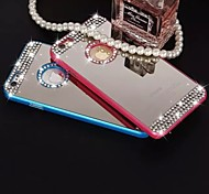 Flash Diamond Ring Buckle Plated Mirror Holder TPU Material Cell Phone Case for iPhone 6/ 6S (Assorted Colors)