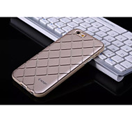 Top Quality 3D IMD Process Plaid Geometric Pattern TPU Back Cover Case for Iphone 6/6s