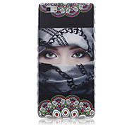 Back Shockproof Sexy Lady TPU Soft Case Cover For Huawei Huawei P8 / Huawei P8 Lite