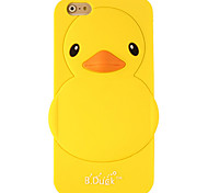 Lovely Cartoon 3D Cute Yellow Duck Soft Silicone Case Cover For iPhone 6 Plus/6S Plus Phone Cases