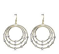 European Style Fashion Drill 3 Torus Loops Drop Earrings