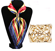 Fashion Hollow Out Flower Scarf Buckle