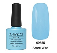LUNDLE 09855 Soak Off UV Nail Gel Color Gel LED Manicure Gel Azure Wish
