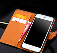 Crazy Horse Embossed Leather Card / Purse Type Protective Cover For The Apple IPhone6s Mobile Phone