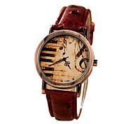Unisex Note Pattern  Quartz Wrist Watch Cool Watches Unique Watches