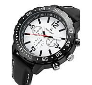 Men's Racing Design Rubber Strap Quartz Casual Watch
