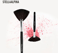 Stellaalpina Fan Brush Goat Hair / Nylon MAC Makeup Style Professional Wood Face