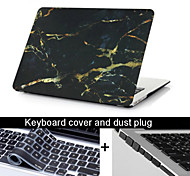 "3 in 1 Black Marble Texture Case Cover+Keyboard Cover+ Dust Plug for Macbook Pro 13.3"" /15.4"""