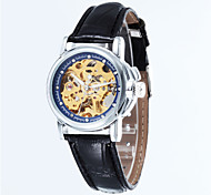 Women's Business Full-Automatic Round Dial Leather Band Machine Analog Hollow Wrist Watch(Assorted Color) Cool Watches Unique Watches