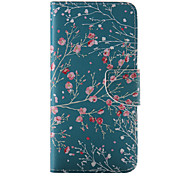 Red Flower Painted PU Phone Case for iphone 6/6S