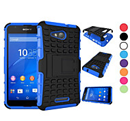 2 in 1 Dual-color Detachable PC+TPU Hybrid Case with Kickstand For Sony Xperia Z3/Z4/Z3 Mini/Z4 Mini/E4/E4G