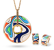 Stainless steel Jewelry Set Fashion Gold Necklace Pendant Jewelry Type Occasion Quantity OSS-066
