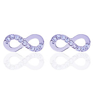 European Style Fashion Zircon Infinate Silver Plating Stud Earrings