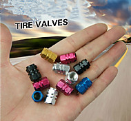 4Pcs/lot Universal Auto Bicycle Car Tire Valve Caps Tyre Wheel Hexagonal Ventile Air Stems Cover Airtight Rims