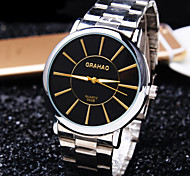 Men's Simple Business Round Dial Steel Fashion Life Waterproof Quartz Watch