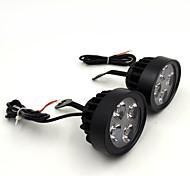 ultimo moto impermeabile un paio 12v super leggero condotto faro riflettori locomotiva lampada di aiuto retrovisore luce dello specchio