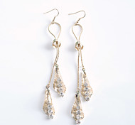 Korean Fashion   Crystal Sector Drop Earrings