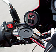 1* Waterproof USB Charger with Switch for Vehicle Motorcycle Bike Black