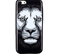 Lion Pattern TPU Phone Case for iPhone 5C