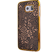 Metal Frame Relief Printing PC Material Mobile Cell Phone Case for Samsung Galaxy S6(Assorted Colors)