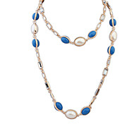 European Style Fashion Wild Pearl Mix Color Necklace
