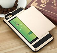 Hybrid Luxury Card pocket wallet ShockProof Slim case for iphone 6plus/6Splus