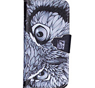 Eagle Pattern PU Leather Phone Case For iPhone 5C