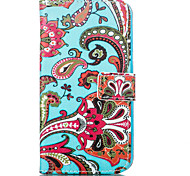 Flower Leather Wallet for Samsung Galaxy J1 J5