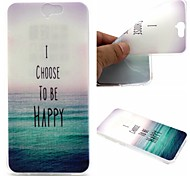 I Choose To Be Happy Pattern TPU Soft Case for HTC A9